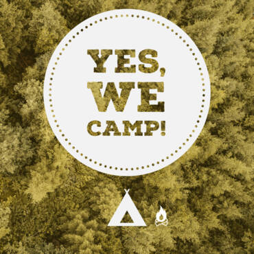 Yes, we camp Logo